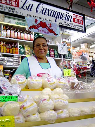 Photo of Sr. Jaime Bahena Bustos at his Grocery Store in  Taxco's Central  Market.